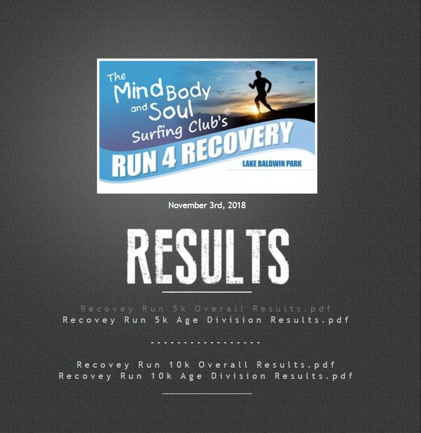 2018 results MBS Recovery Run