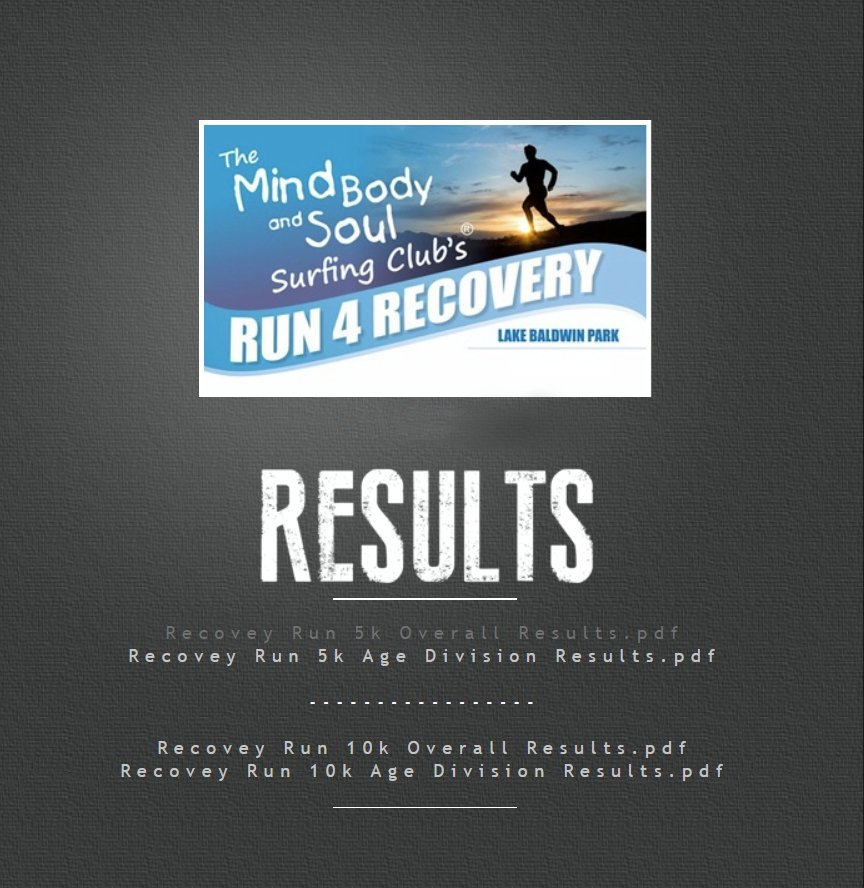 MBS Recovery Run Results